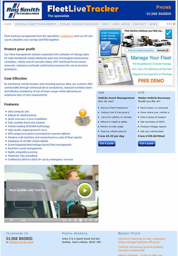 Fleet tracking website
