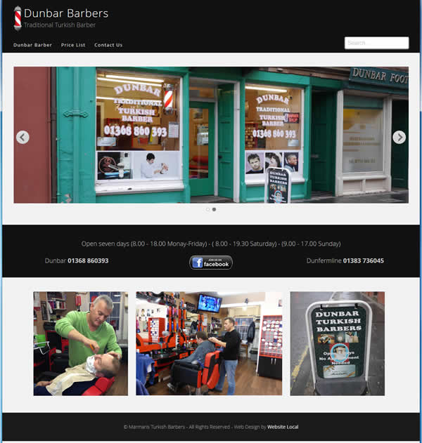 Turkish barbers new website