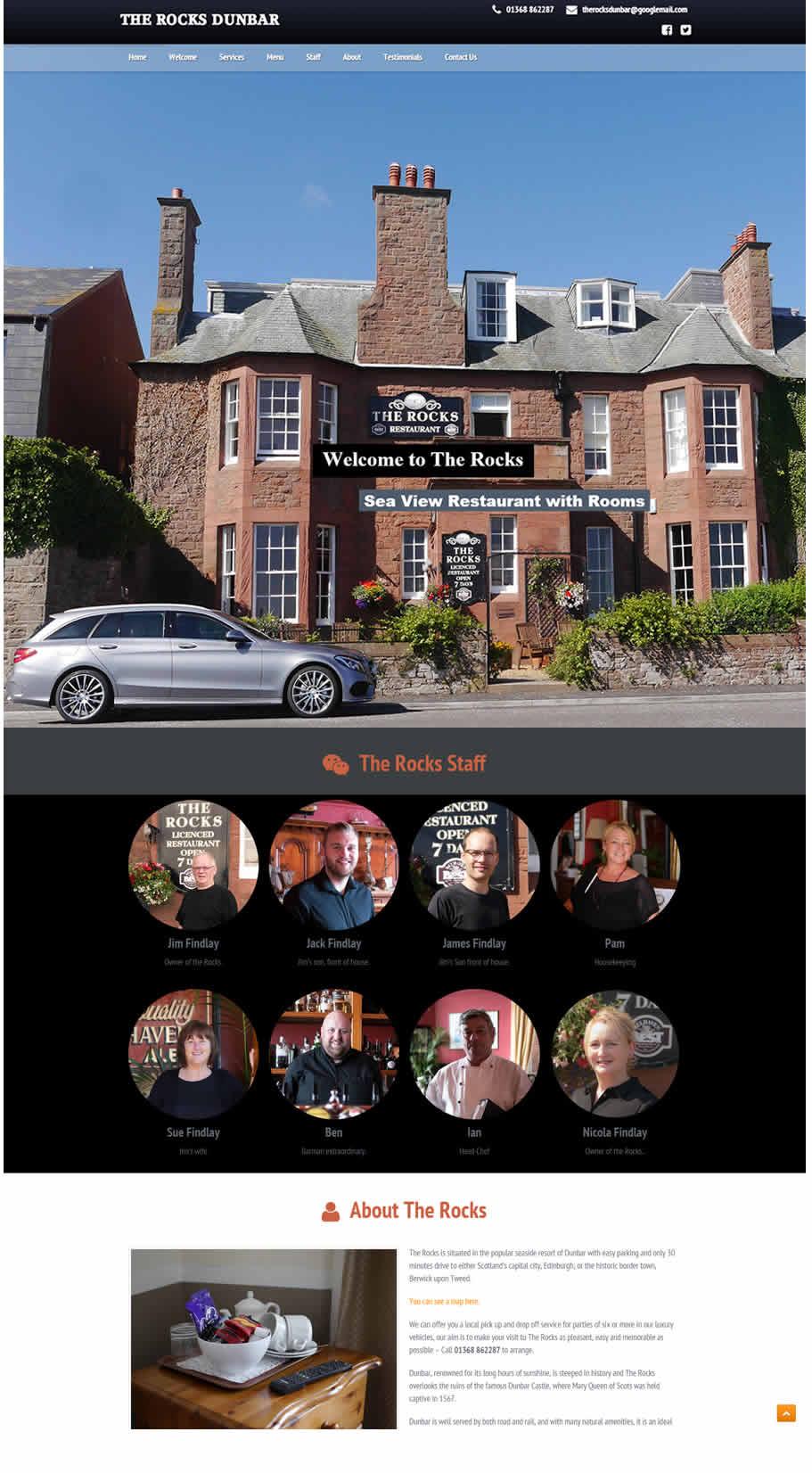 The Rocks Dunbar new website