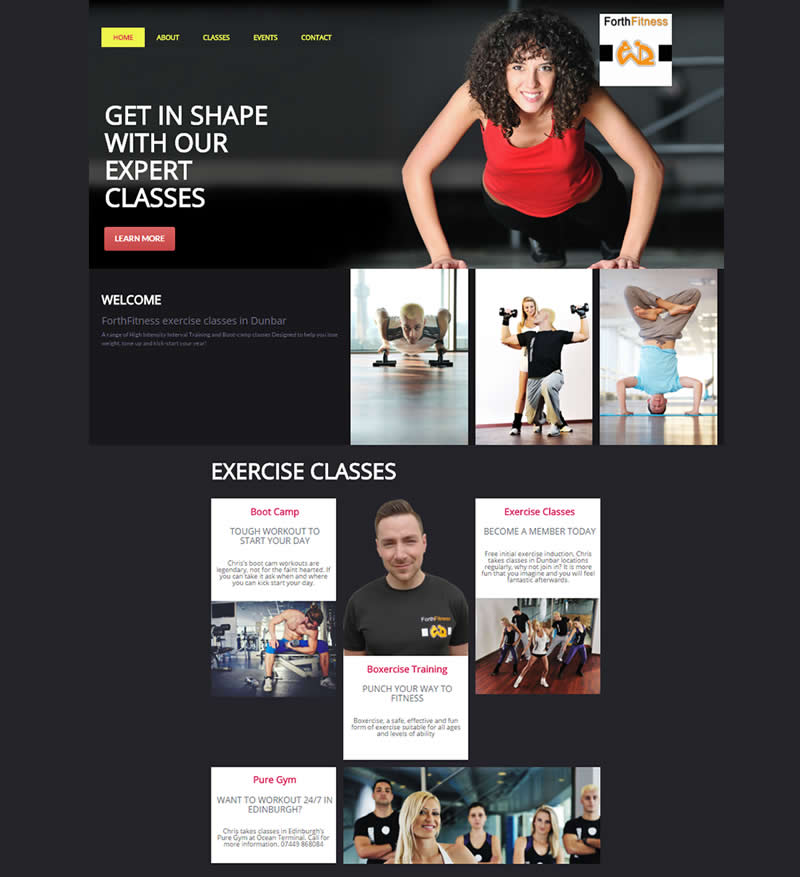 websitelocal new website for Forth Fitness