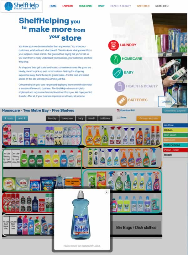 Procter & Gamble website overhaul
