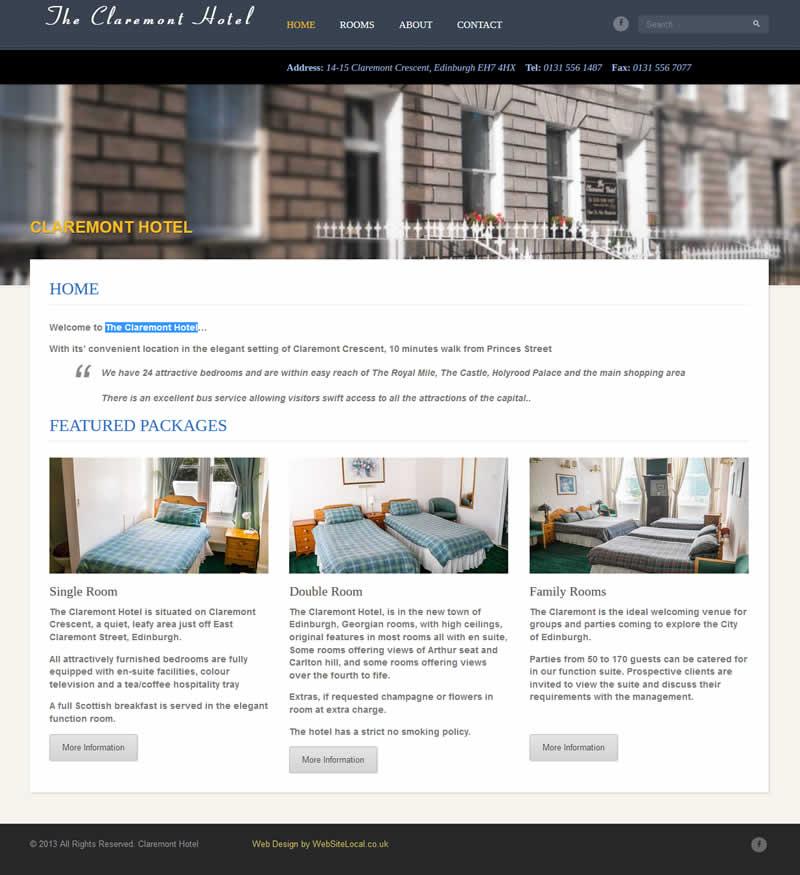 Claremont Hotel New Website