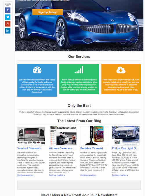 CarAudioStuff New Blog Theme