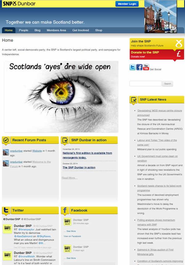 New website for Dunbar SNP