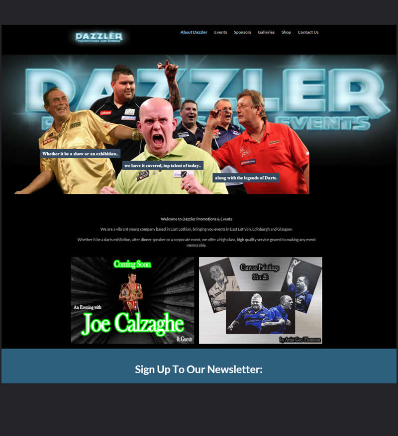 Dazzler Promotions new website
