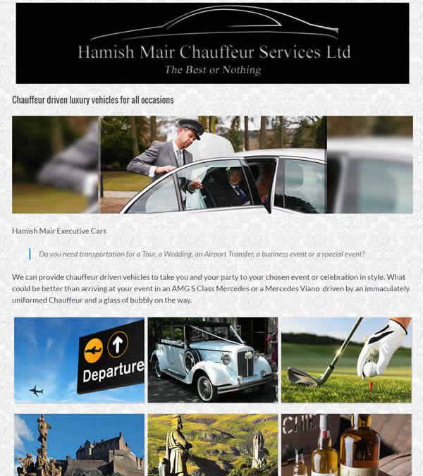 New website for Hamish Mair Executive Cars